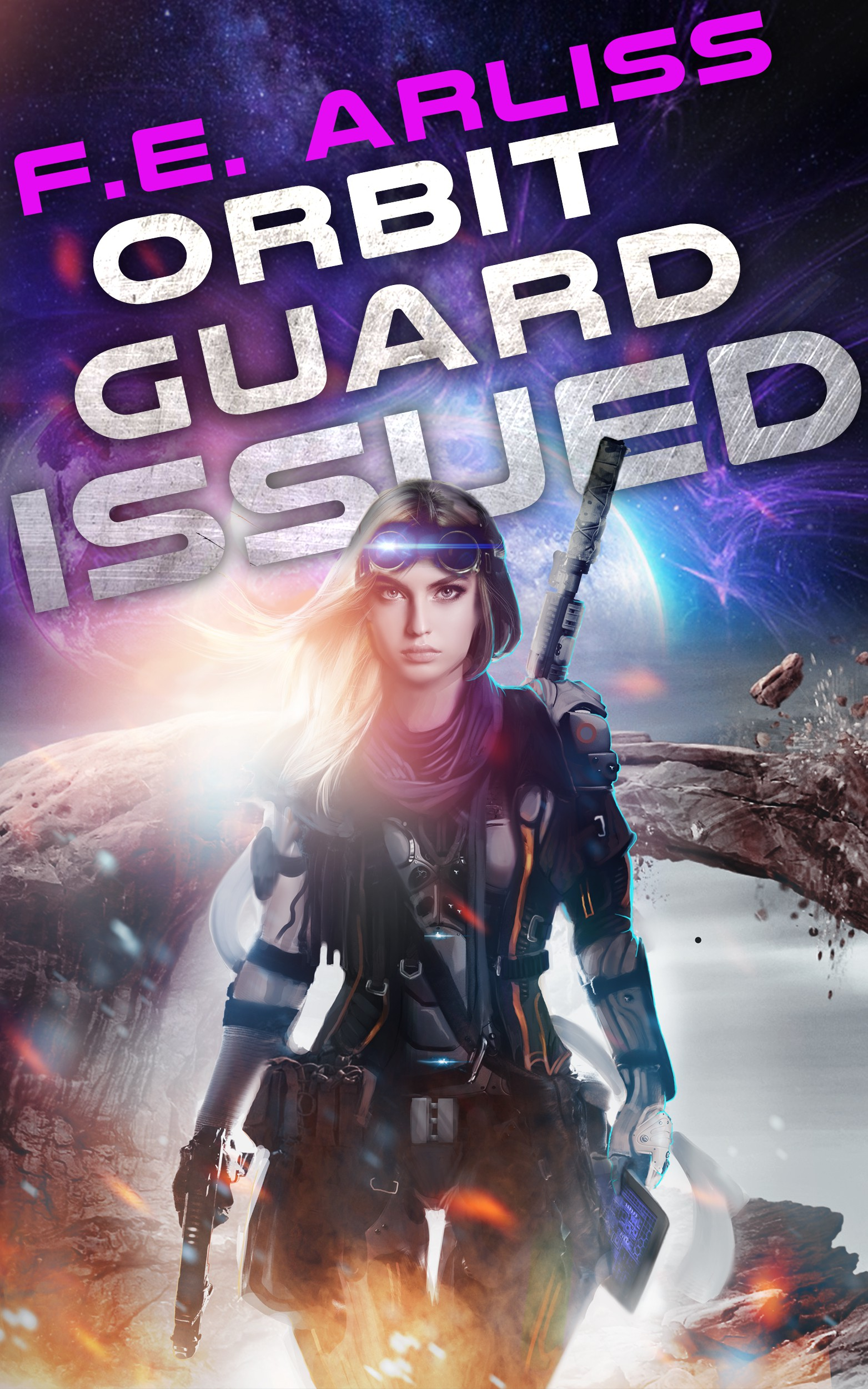 Design a book cover for a feisty female space lieutenant romance.