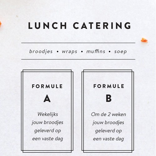 Vegan catering brochure design