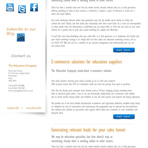 The Education Company eNewsletter Template