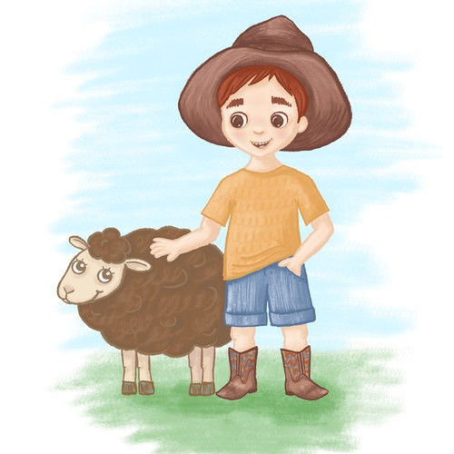 Little farmer children book illustration