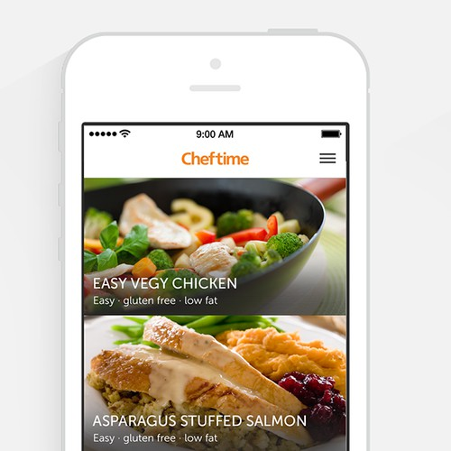 Design the CHEFTIME iOS Apps