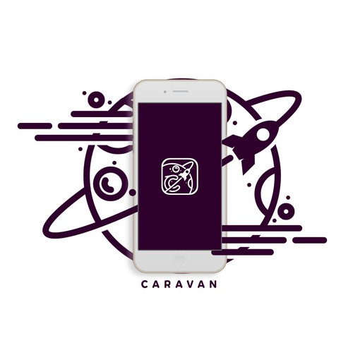 Logo concept for Caravan APP