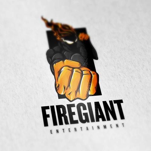 Character Logo Design Concept For FireGiant