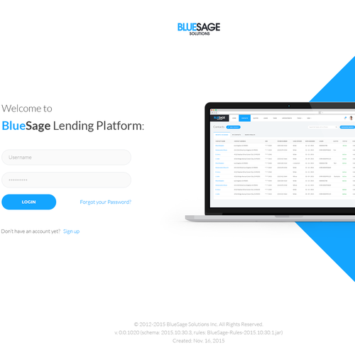 BlueSage Login Page