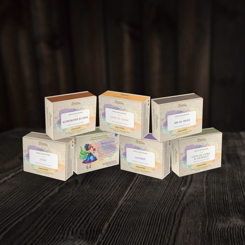 Youtful vibrant natural soap packaging