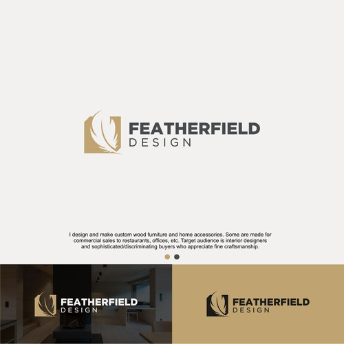 featherfield concept logo
