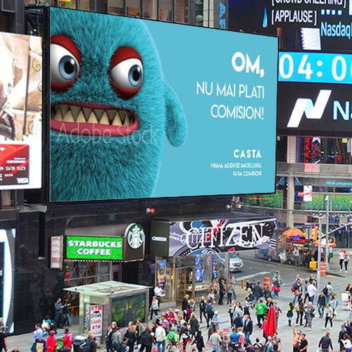 billboard furry monsters.