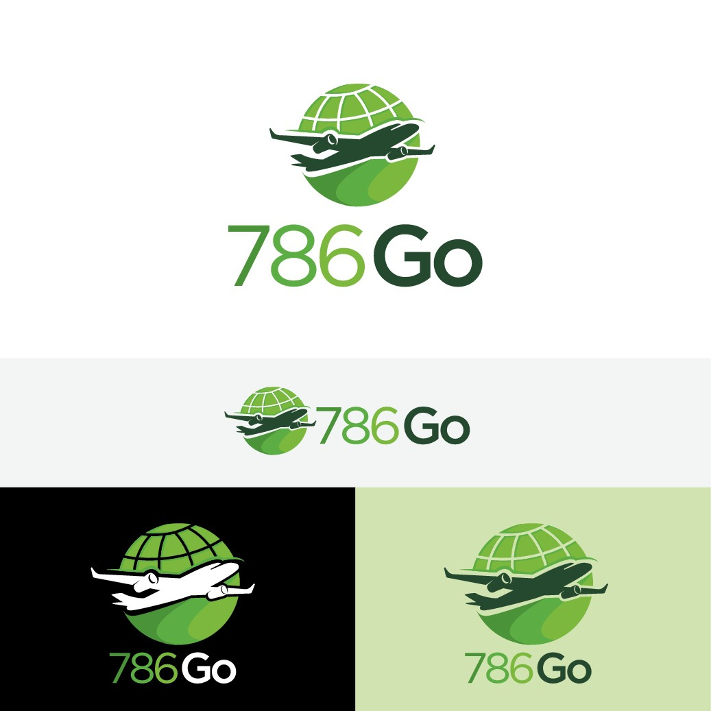 786 Go, Muslim Leisure Travel brand, needs a logo that communicates service, reliability, and fun