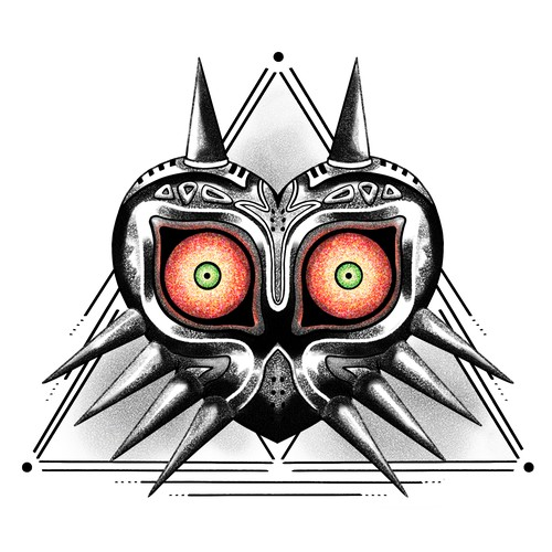 tatouage majora's mask