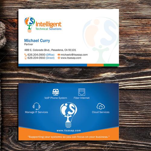 High-tech company needs professional business card