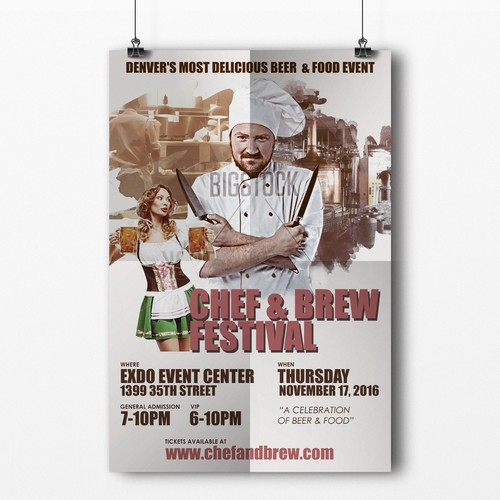 Chef and Brew Beer Fest Poster Like Movie Art!