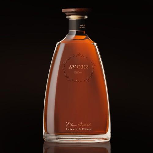 rum bottle design