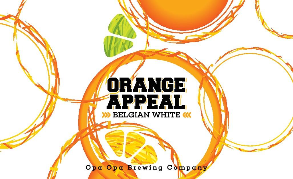 Orange Appeal Belgian White Beer Label