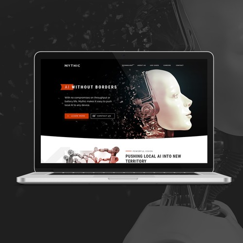 Bold Website For AI Leader