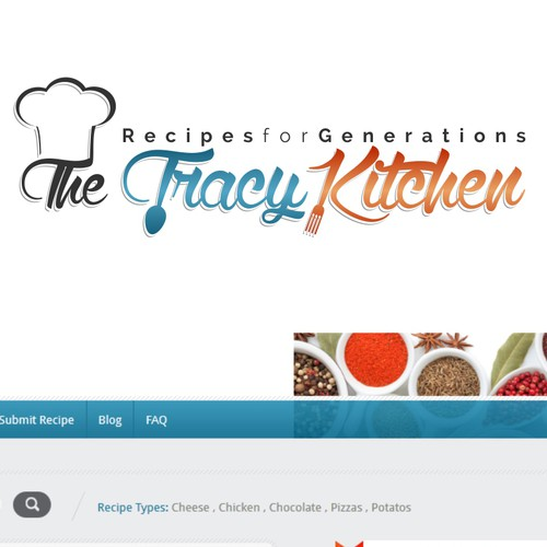 Create a logo for a family recipe website