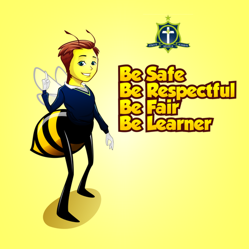 Beta Bee For School Mascot