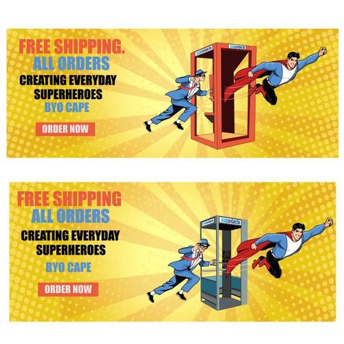 Website Homepage Hero Banner - Superhero Theme