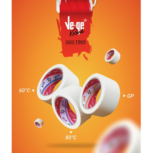 Poster for branding strategy of masking tapes