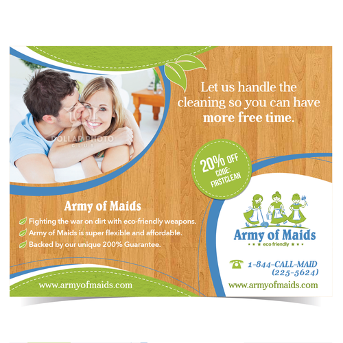 $$$ GUARANTEED $$$ Design a direct mailer for a residential cleaning company!