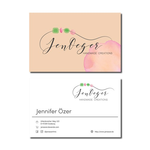 Logo&business card for an online jewelry shop