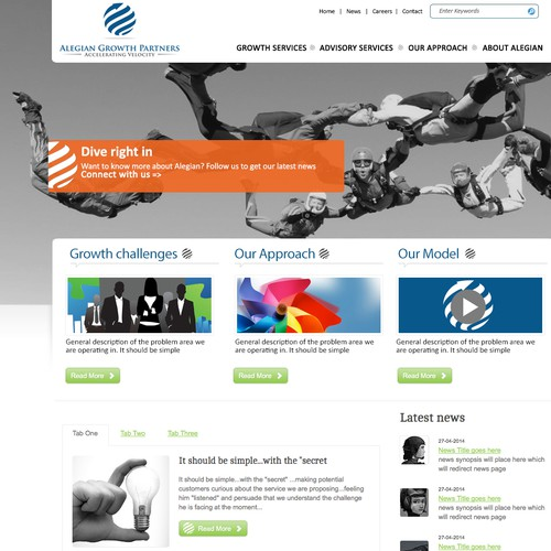 Business management consulting website