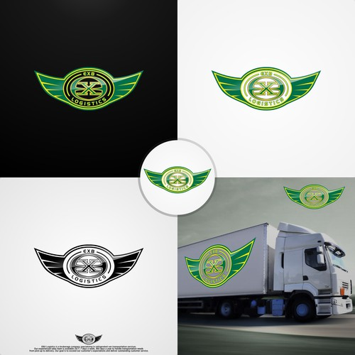 Bold logo for EXB Logistic