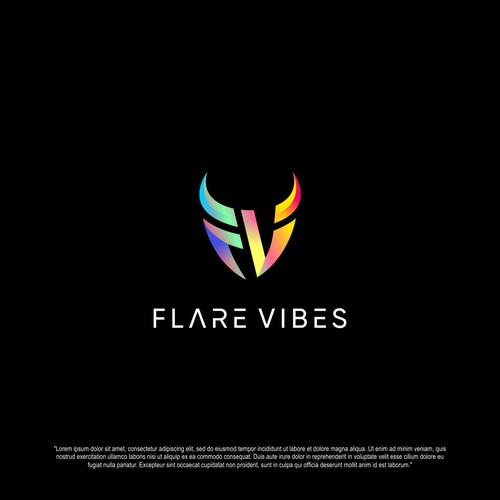 Logo concept for Flare Vibes
