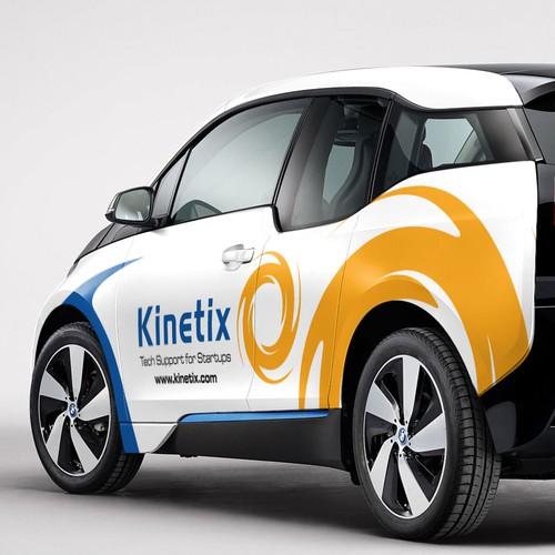kinetix car decal