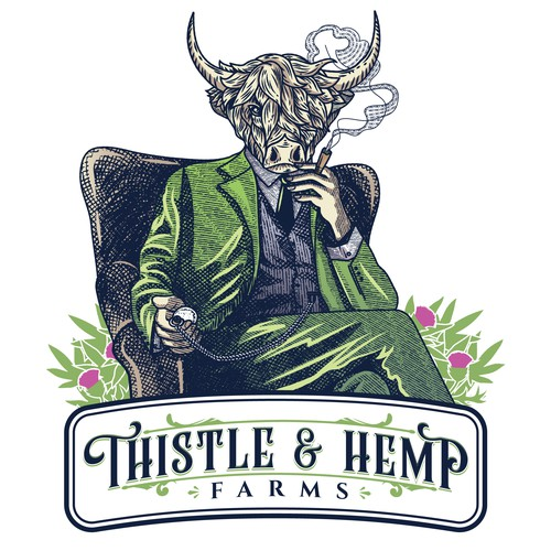 Character for the Thistle and Hemp Farms packaging