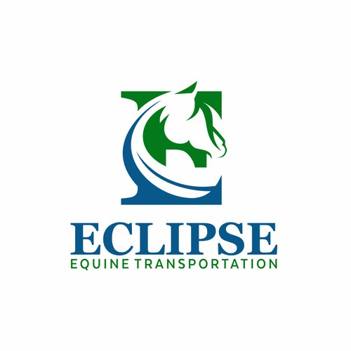 Negative logo Eclipse Equine