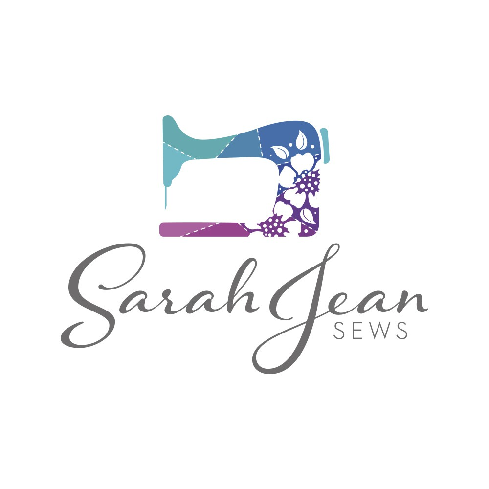 Create a sewing/repurposing logo for Sarah Jean Sews