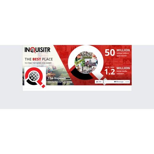 Facebook cover designed for news website
