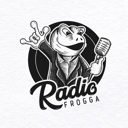 logo for radio frogga