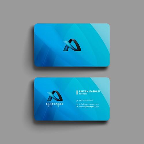 Elegant Business card for approsper.