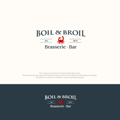 strong logo concept for Boil & Broil.