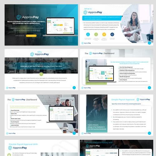 Clean yet minimalist presentation design