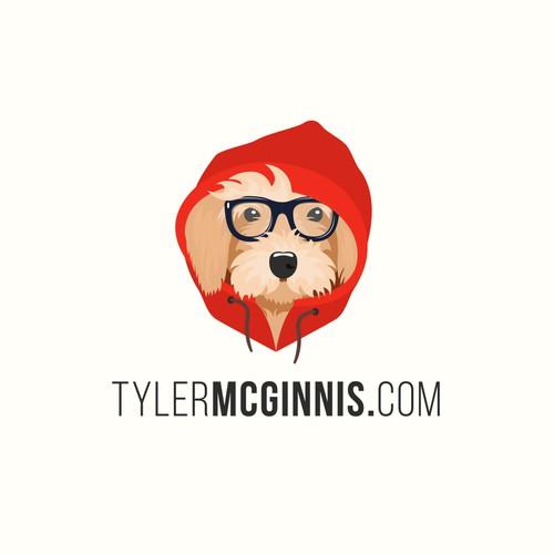 Dog character logo