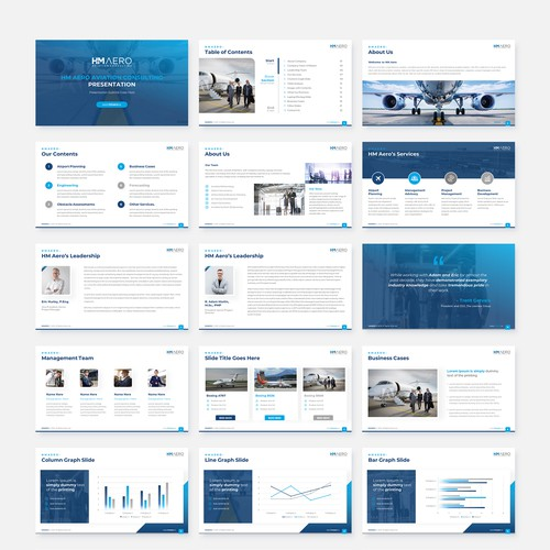 HM Aero Aviation Consulting PowerPoint Template