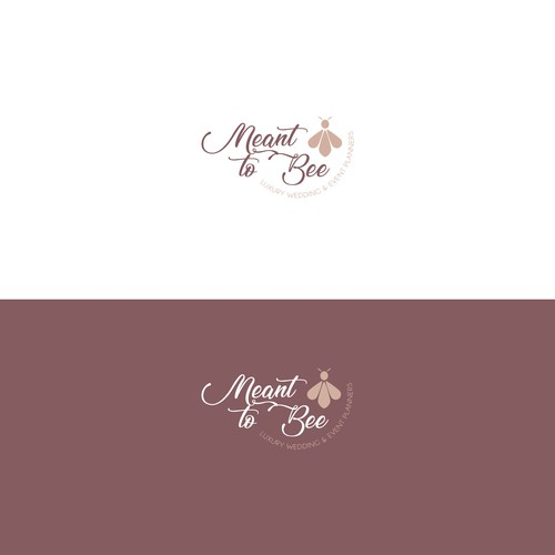 Romantic logo for a wedding planner