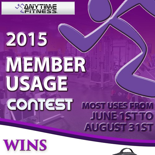 """Anytime Fitness """"Member Usage Contest"""" Poster"""