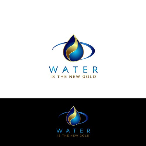 Winning design for 'Water Is The New Gold'.