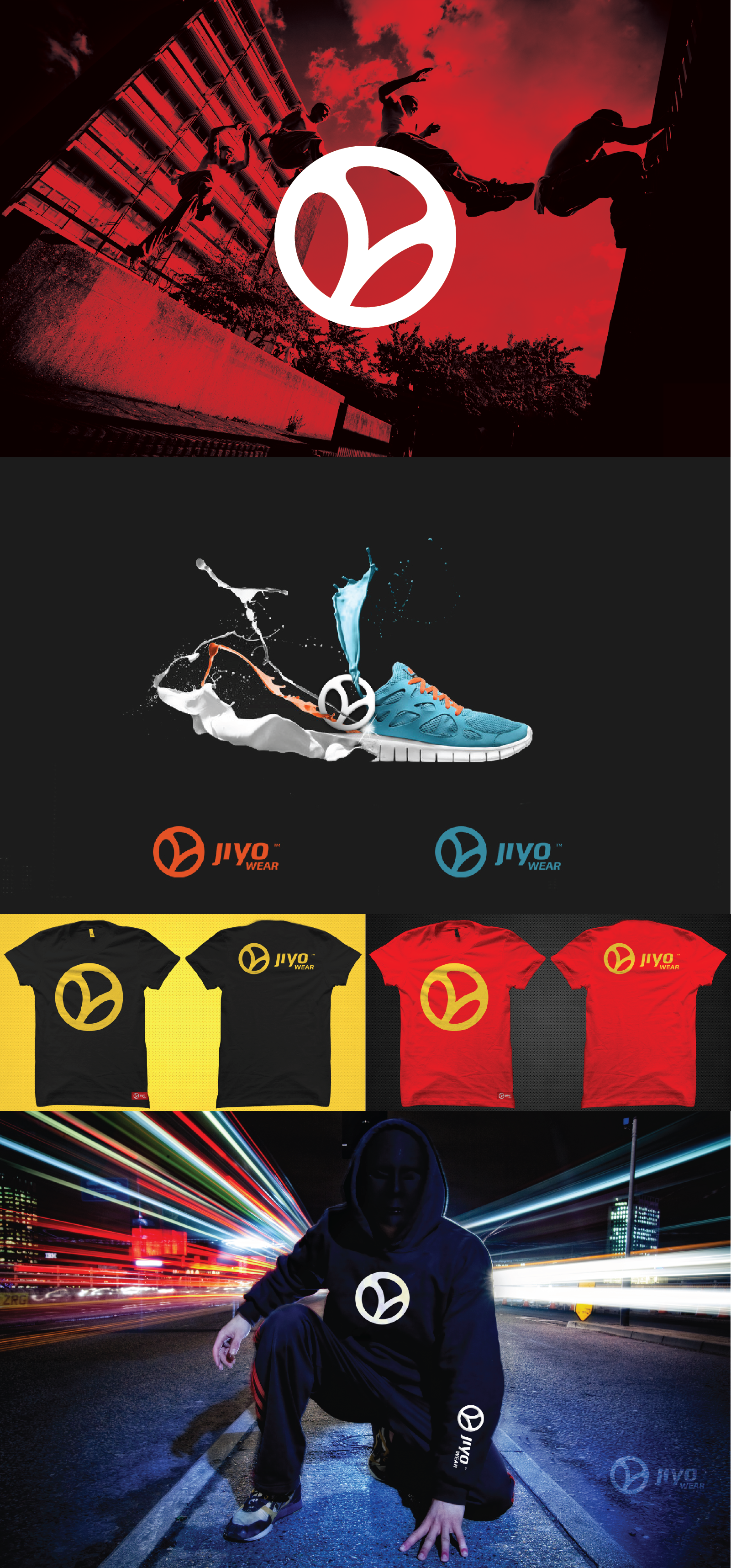 Create the Bookmark / Brand Logo for one of the best parkour/freerunning teams worldwide, Team JiYo