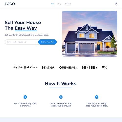 Website design for real estate services company