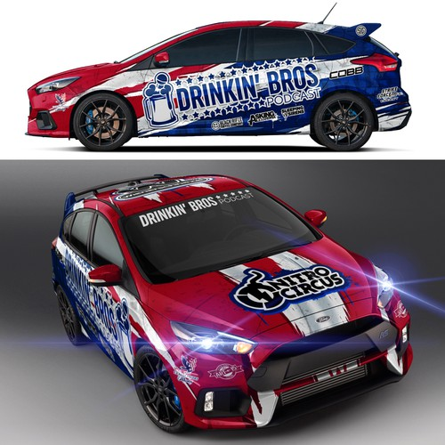 Drinkin' Bros Rally Car