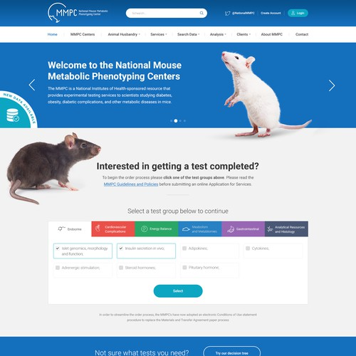 Mouse Metabolic Phenotyping Centers Website