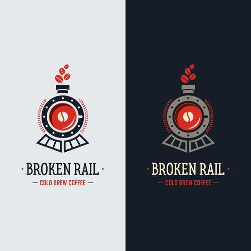 Train logo for cold brew coffee