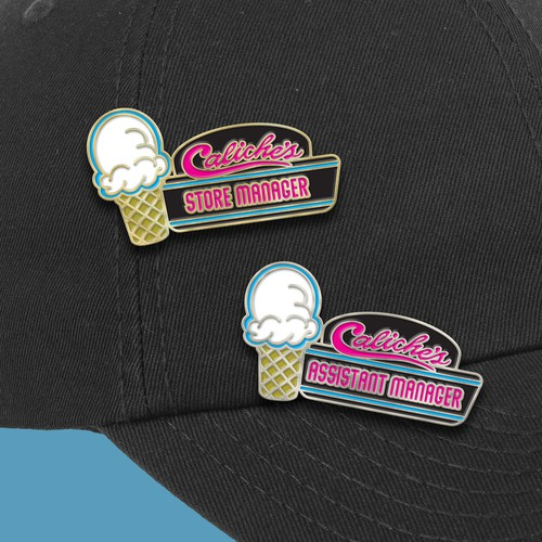 Custom Employee Hat Pins for an Ice Cream Shop!