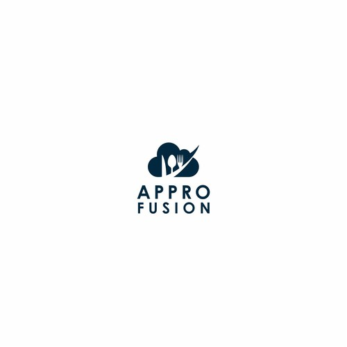 simple clean appro fusion logo