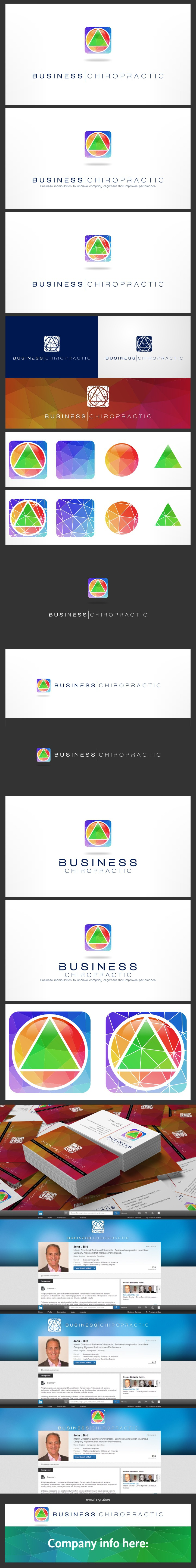 Create a full brand imagery for Business Chiropractic. Business skills delivered differently!
