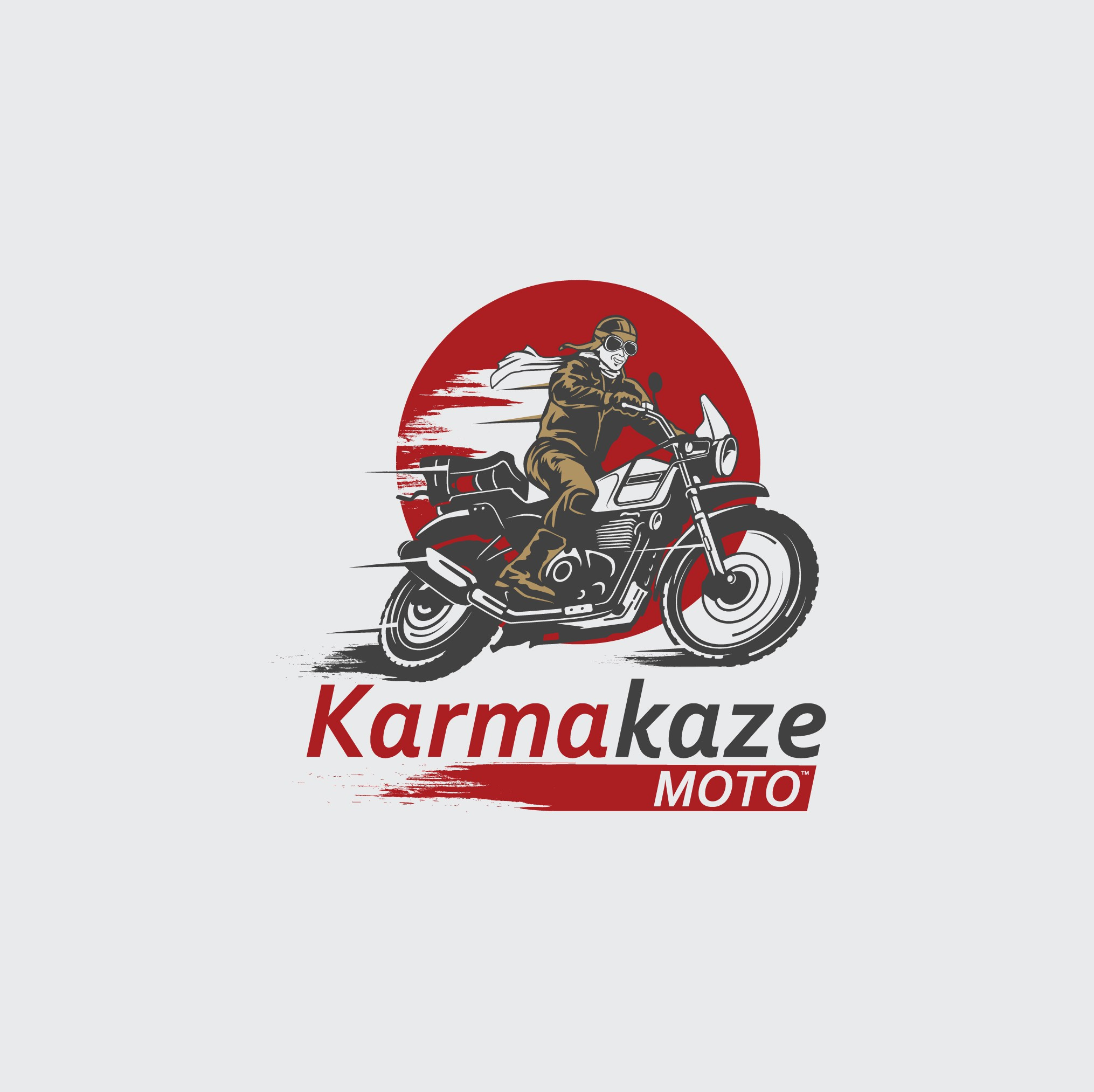 Motorcycle Rider with Vintage Appeal: Karmakaze Moto